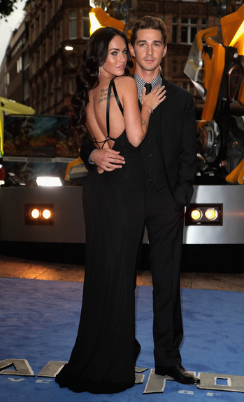 Shia and Megan - Uk premiere Transformers 2